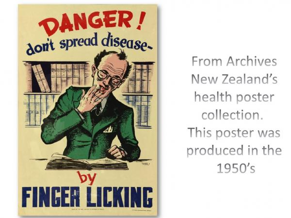 From Archives  New Zealand's  health poster  collection.   This poster was  produced in the  1950's